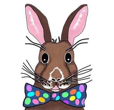 Animals Mixed Media - Easter Bunny by Kathleen Sartoris