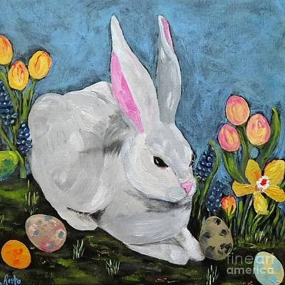 Painting - Easter Bunny  by Reina Resto