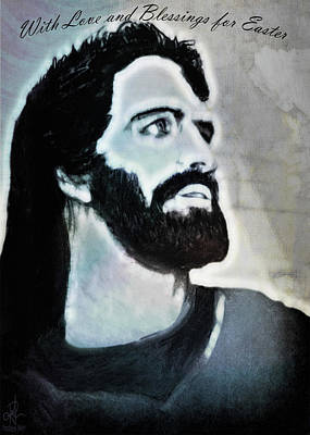 Drawing - Easter Card - Jesus by Pennie McCracken