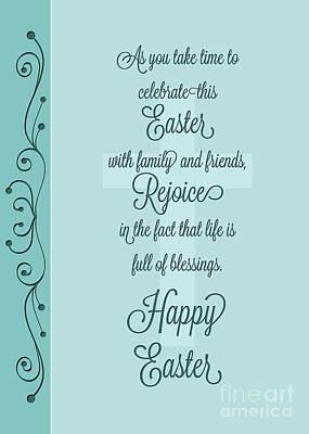 Digital Art - Easter Celebration by JH Designs