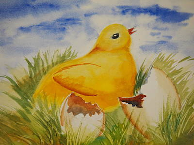 Painting - Easter Chick by Rod Stewart