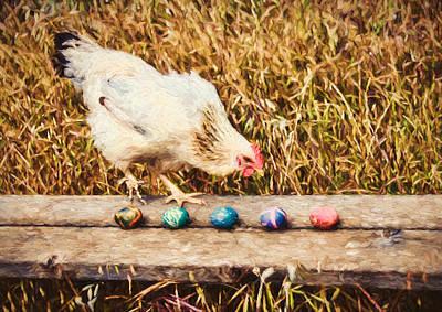 Chicken Photograph - Easter Chicken by John K Woodruff