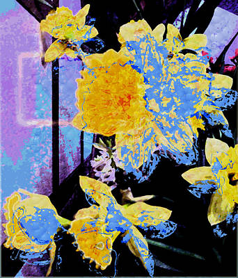 Easter Daffodils Original by Mindy Newman