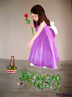 Painting - Easter Dress by Cathy Jourdan