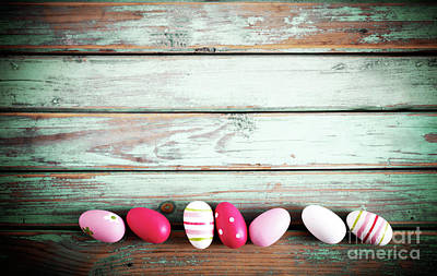 Photograph - Easter Egg Background by Kati Molin