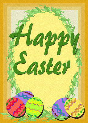 Digital Art - Easter Egg Card by Michelle Audas