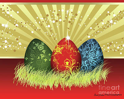Digital Art - Easter Egg Card by Scott Parker