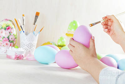 Photograph - Easter Egg Painting In A Workshop by Michal Bednarek
