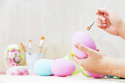 Photograph - Easter Egg Painting In An Atelier. by Michal Bednarek
