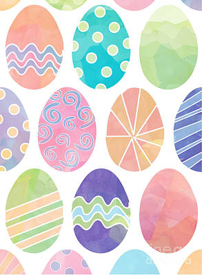 Digital Art - Easter Eggs 1 by Whitney Morton