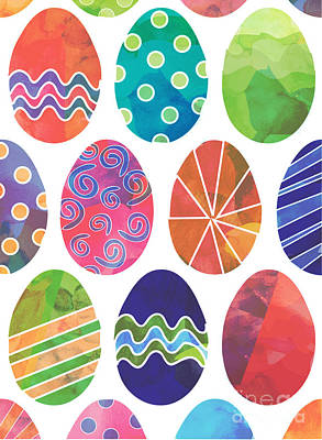 Digital Art - Easter Eggs 2 by Whitney Morton