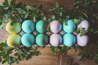 Photograph - Easter Eggs 27 by Andrea Anderegg