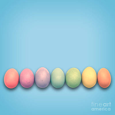 Laid -back Art Photograph - Easter Eggs, Blue by Delphimages Photo Creations