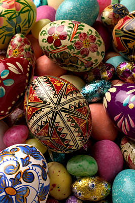 Hand Painted Photograph - Easter Eggs by Garry Gay