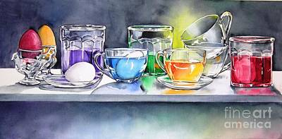 Painting - Easter Eggs by Jane Loveall