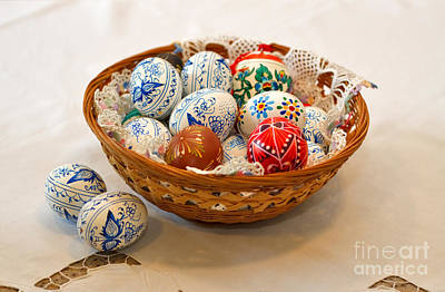 Hand Crafted Photograph - Easter Eggs by Louise Heusinkveld