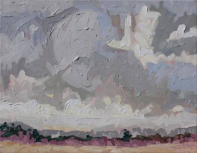 Watershed Painting - Easter Flurries by Phil Chadwick