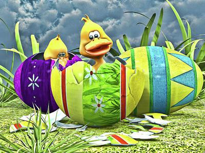 Good Friday Digital Art - Easter Fun by Alexander Butler