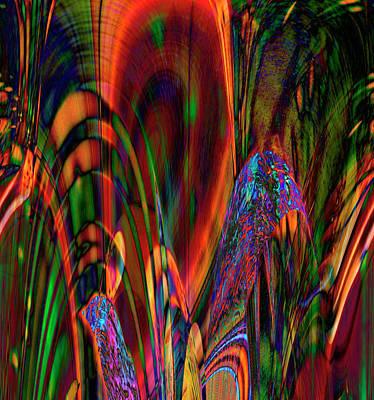 Digital Art - Easter Garden by Richard Thomas