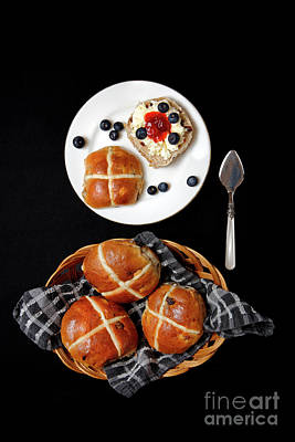 Photograph - Easter Hot Cross Buns  by Nicholas Burningham