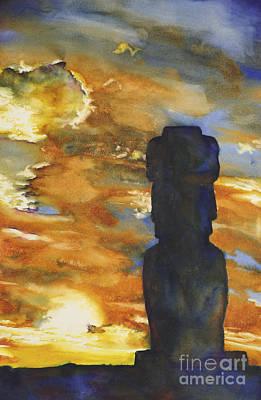 Easter Island Moai- Chile Original