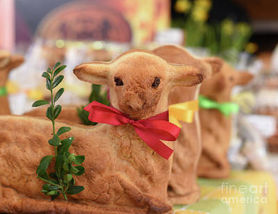 Photograph - Easter Lamb Bread by Juli Scalzi