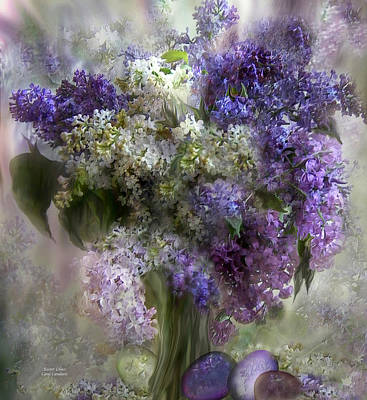 Flora Mixed Media - Easter Lilacs by Carol Cavalaris