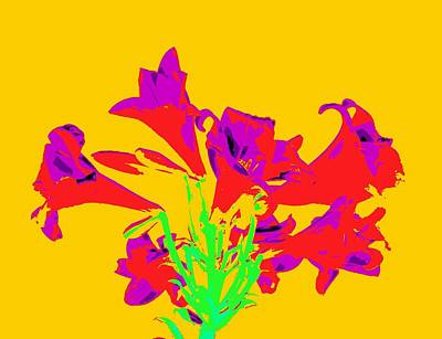 Photograph - Easter Lilies As Pop Art by Karen J Shine