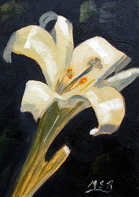 Easter Lilly Art Print by Maria Soto Robbins