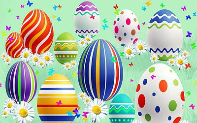 Graphic Digital Art - Easter by Maye Loeser