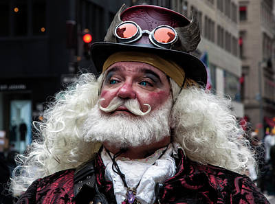 Steampunk Royalty-Free and Rights-Managed Images - Easter Parade NYC 4_1_2018 NYC Elder in Steampunk Costume by Robert Ullmann
