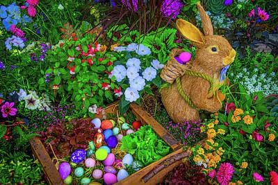 Easter Rabbit In Garden Art Print