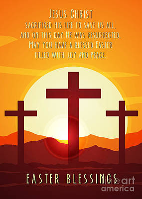 Digital Art - Easter Resurrection by JH Designs