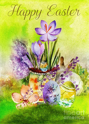 Painting - Easter Time by Mo T