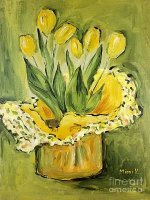 Painting - Easter Tulips by Maria Langgle