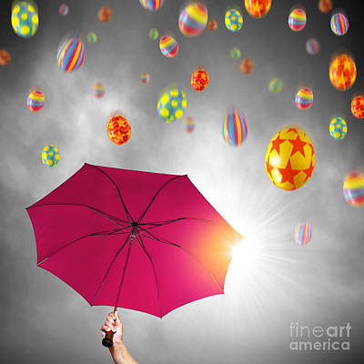 Photograph - Easter Umbrella by Carlos Caetano