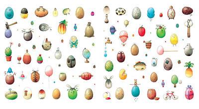 Painting - Eastereggs by Kestutis Kasparavicius