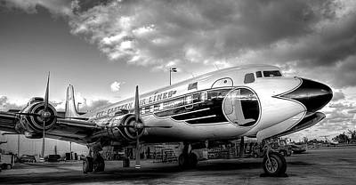 Eastern Airlines Dc7b Art Print by William Wetmore