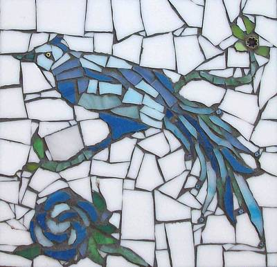 Millefiori Mixed Media - Eastern Bird by Patricia Rockwood