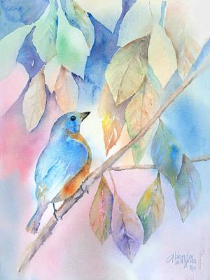 Bluebird Painting - Eastern Bluebird by Arline Wagner