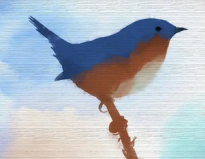 Painting - Eastern Bluebird Rustic Americana by Dan Sproul