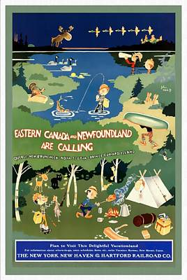 Mixed Media - Eastern Canada And Newfoundland - Restored by Vintage Advertising Posters