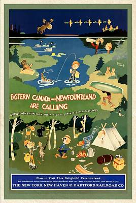 Mixed Media - Eastern Canada And Newfoundland - Vintagelized by Vintage Advertising Posters