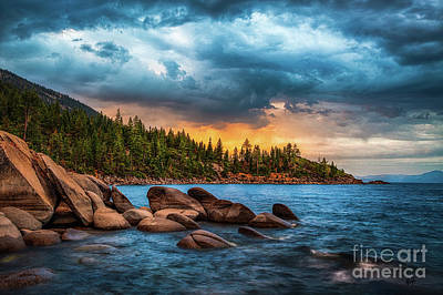 Lake Tahoe Photograph - Eastern Glow At Sunset by Anthony Bonafede