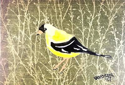 Southern Indiana Drawing - Eastern Goldfinch by Scott D Van Osdol