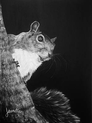 Painting - Eastern Gray Squirrel by Jeanette Fellows