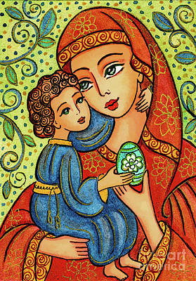 Painting - Easter Madonna by Eva Campbell