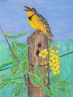 Painting - Eastern Meadowlark by Patricia Beebe