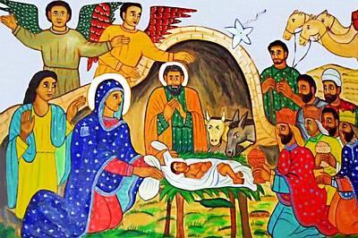 Photograph - Eastern Nativity Scene by Munir Alawi