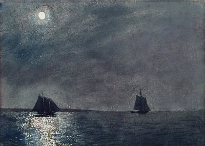 Sailboat Ocean Painting - Eastern Point Light by Winslow Homer